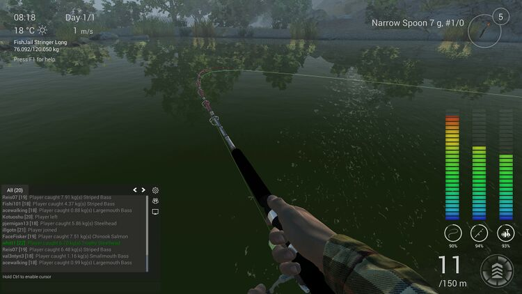 fishing planet how to fight a fish